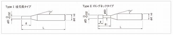 日進工具 樹脂用エンドミル RSE230一覧表